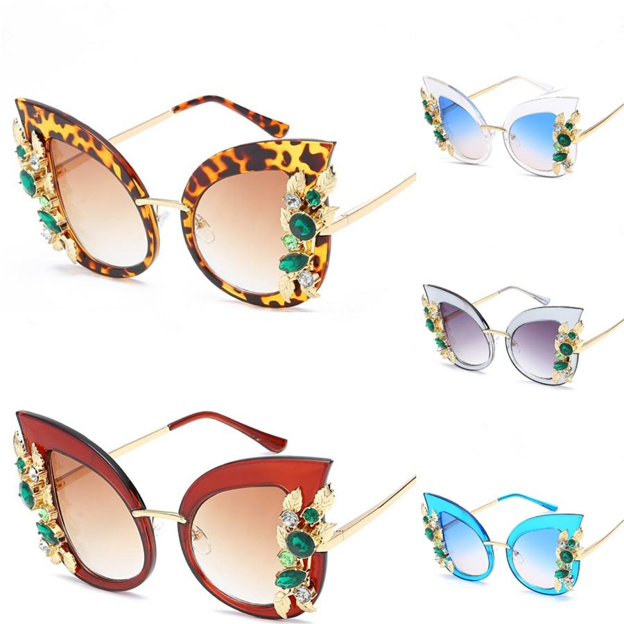 Limited Top Quality Square Half Frame Sunglasses For Women Men Vintage Retro New Fashion Sport Cat Eye Clear Lens Sun Glasses With Case #37921