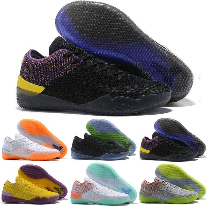 Nike Kobe Ad Nxt 360 jaune Grève Mamba Jour Multicolor Hommes Enfants Chaussures de basket-ball pour Top qualité 12 Chaussures de sport Loup