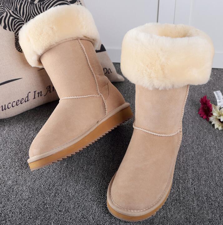 Botas Womens Bota neve do inverno botas botas de couro altas clássicas de Austrália Women transporte da gota