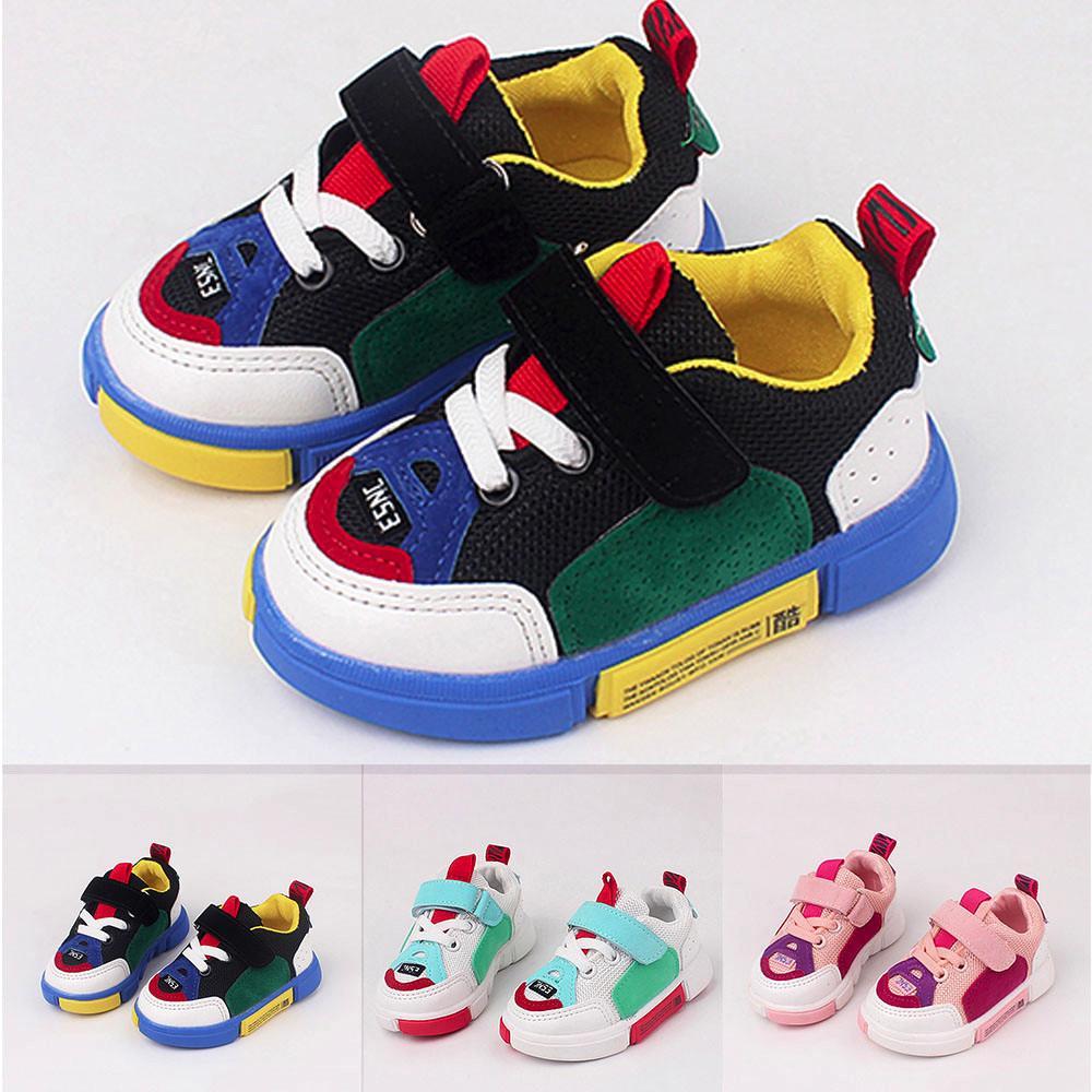 Enfants Baskets Doux Confortable Enfant Enfants Garçons Filles Air Mesh Running Chaussures De Sport Garçons Filles Mesh Semelle Souple Chaussures Sneaker