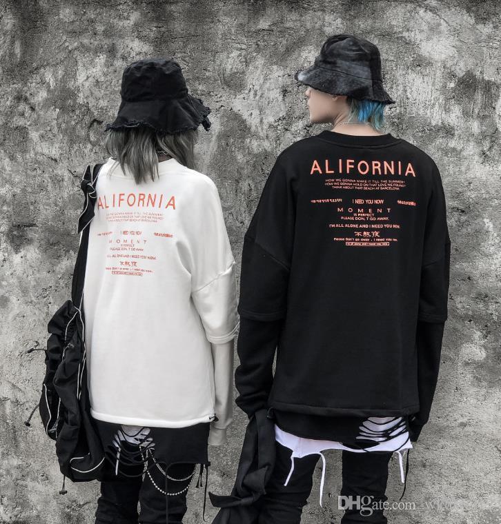 di alta qualità di stampa paio abbigliamento marea progettista degli uomini hoodie di marca allentato Via hip hop di modo del Mens bianco di cotone con cappuccio riquadro rosso serpente 99