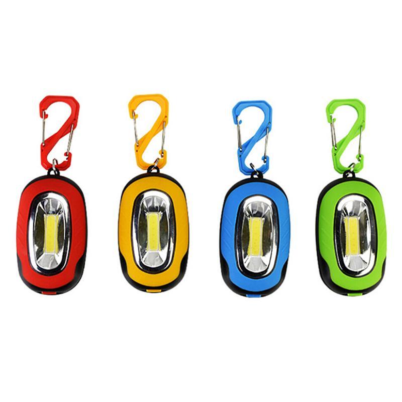 La luce calda mini tasca di Keychain della torcia LED lampada multicolore senza batteria portachiavi esterni gioca corsa del sussidio