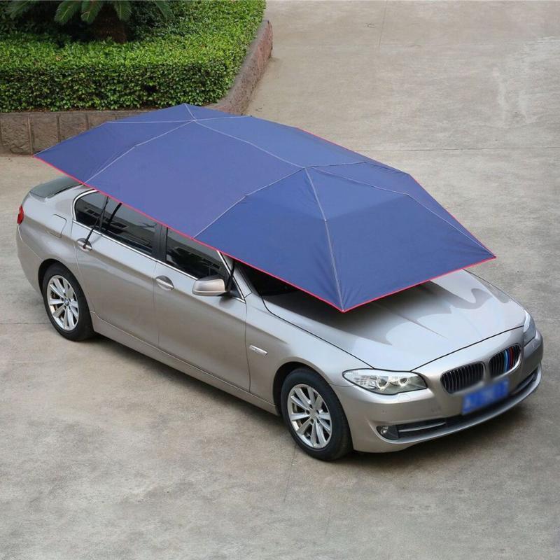Vollautomatische Auto Zelt Bewegliche Sonnenschirm Regenschirm Staubdicht Markise Sonnenschutz Auto Regenschirm Mit Fernbedienung