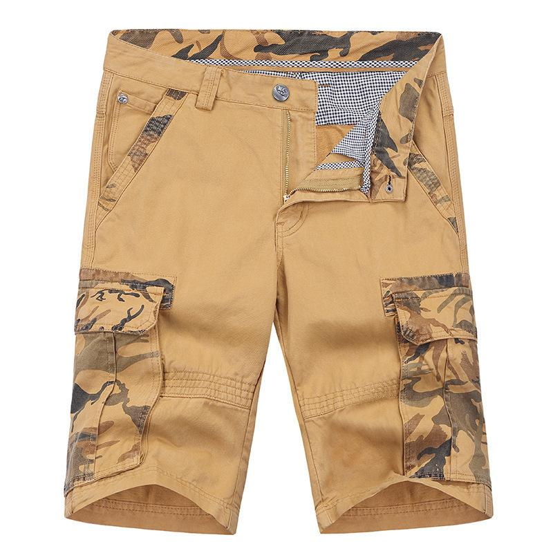 Summer Leisure Time Youth Overalls Men's Wear Easy More Pocket In Pants Pure Cotton Motion Shorts Thin Section B2021