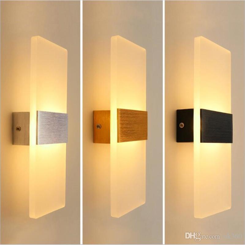 جديدة وحديثة 3W 6W الألومنيوم الجدار الاضواء مطعم مطبخ / المعيشة غرفة نوم حمام داخلي مصباح أدى الجدار الشمعدان مصابيح
