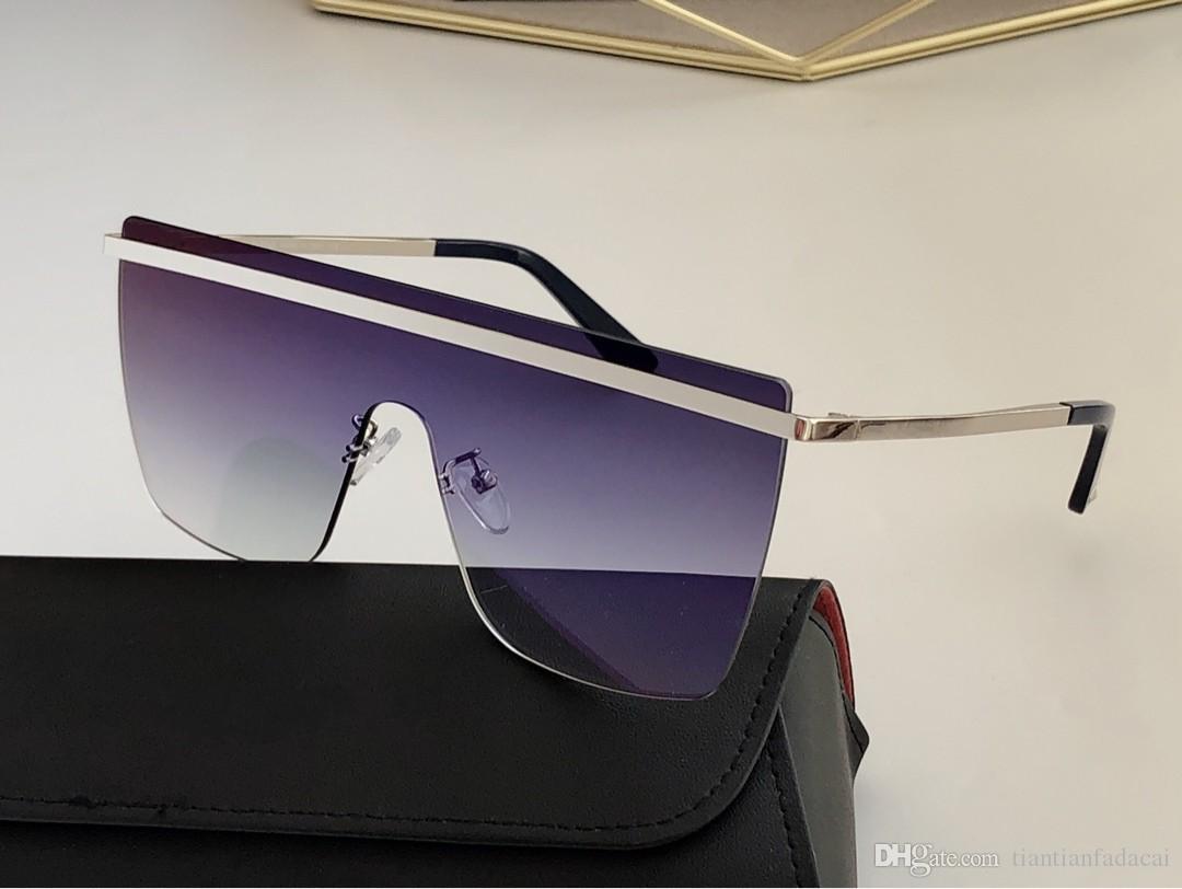 роскошные солнцезащитные очки, мужские солнцезащитные очки, женщины классический горячий дощечки металлический каркас 268 UV400 защиты на открытом воздухе очки высокого качества с коробкой