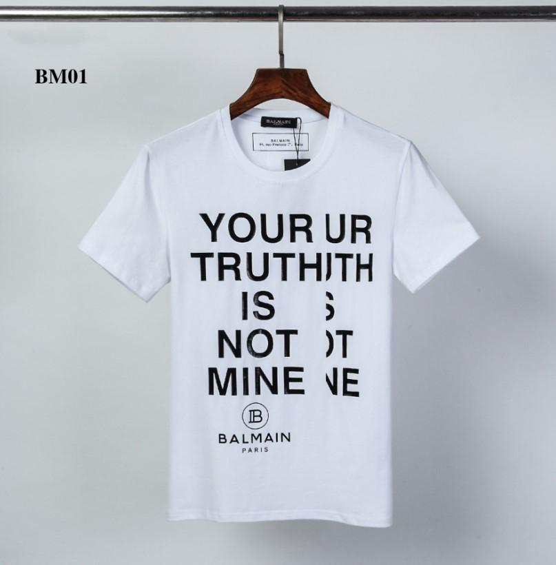 BM01 Designershirts Erkekler Kadınlar Yaz Yeni Lüks T-shirt Erkek Brandshirts Kısa Kollu Harf Baskılı Erkek Üst Tees Streetwear ZX23 2020570K