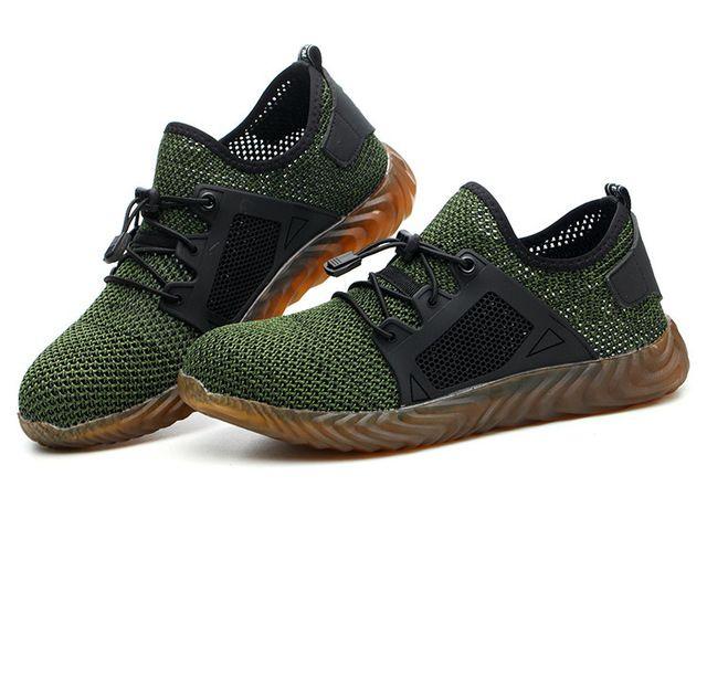 Schuhe Arbeitssicherheit mit Stahlkappe 2019 Dropshipping Damen Herren Stiefel Indestructible Air Leichte Resistant männlich Schuhe 48