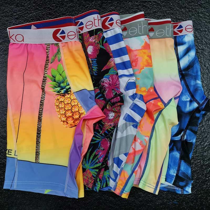Heißer Verkaufs-zufällige Farbe Ethika Herren-Unterwäsche Herren Designer Unterwäsche atmungsaktive Baumwolle Boxer-Unterhosen Männer Panties Quick Dry Größe XL