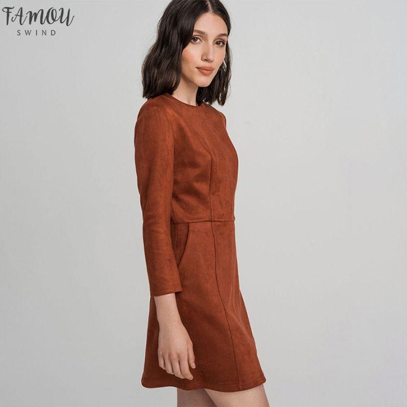 Women Pockets a Line Party Dress Ladies Seven Sleeve o Neck Solid Elegant Office Work Female 2020 Fashion Winter Dress Vintage