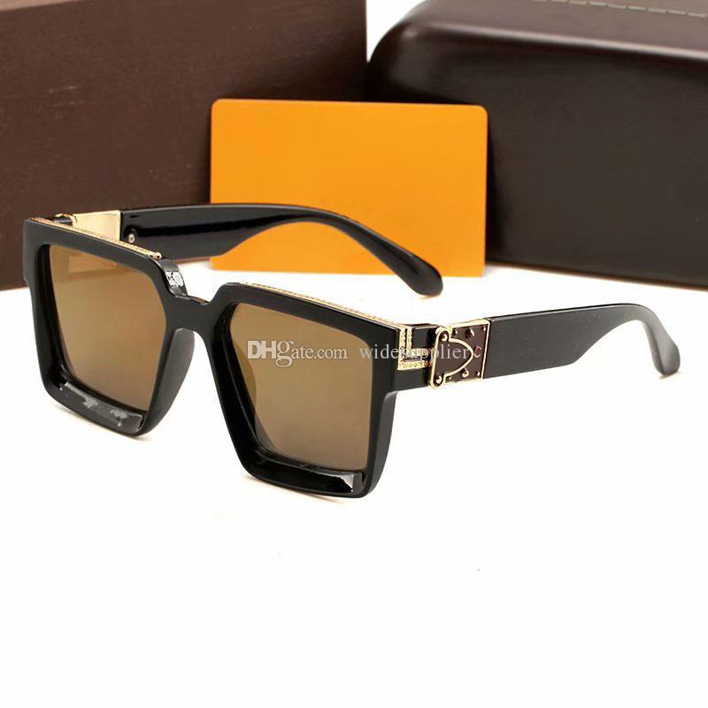 2019 Роскошные солнцезащитные очки Мода Big Frame солнцезащитные очки Женщины Человек NICE ЛИЦО Солнцезащитные очки Оттенки Sunglass Марка Дизайнерские очки