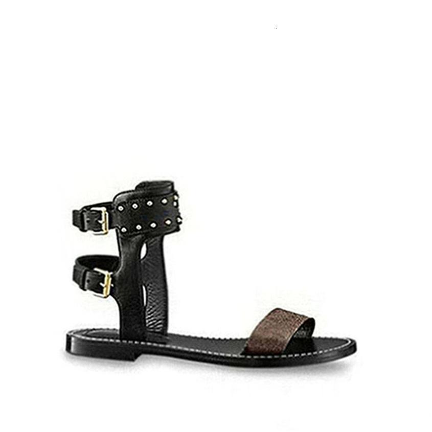 2019 Nova Retro Nomad Sandália sexy Outdoor Sandals Verão para as mulheres de dedo aberto Imprimir couro Casual Sandálias Trekking Sapatos com Box W7