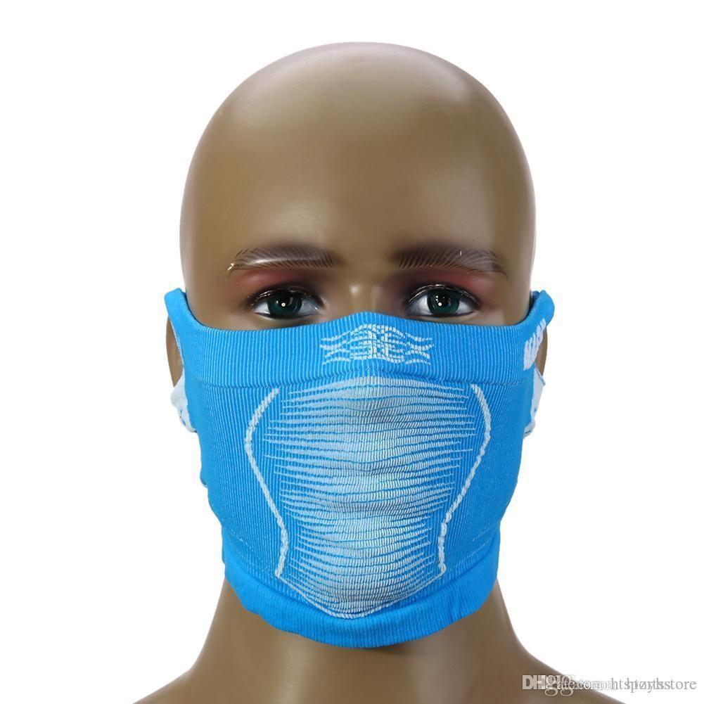 Gros- Stretchable VTT Vélo Anti froid masque complet cou couvert chaud d'hiver Ski Vélo demi-masque facial du cou avec l'oreille trou