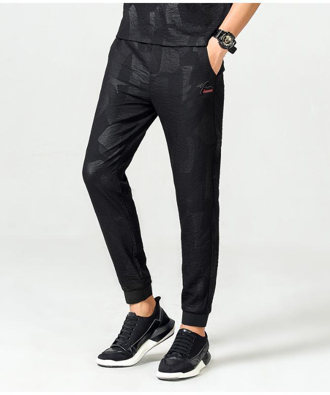 Pantaloni Harem uomo Nero joggers fitness casuale caviglia Pantaloni uomo estate Streetwear degli uomini di Hip Hop Fashion Skinny Sweatpant