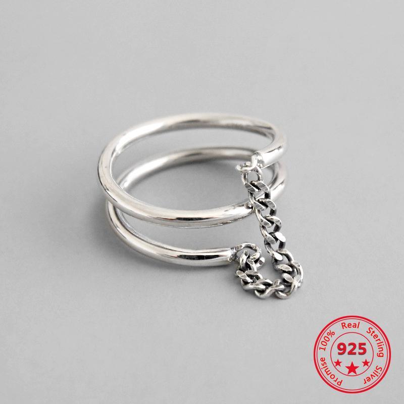 2019 nuovo modo d'argento europea 925 catenine semplici gioielli croce anello aperto di disegno delle donne
