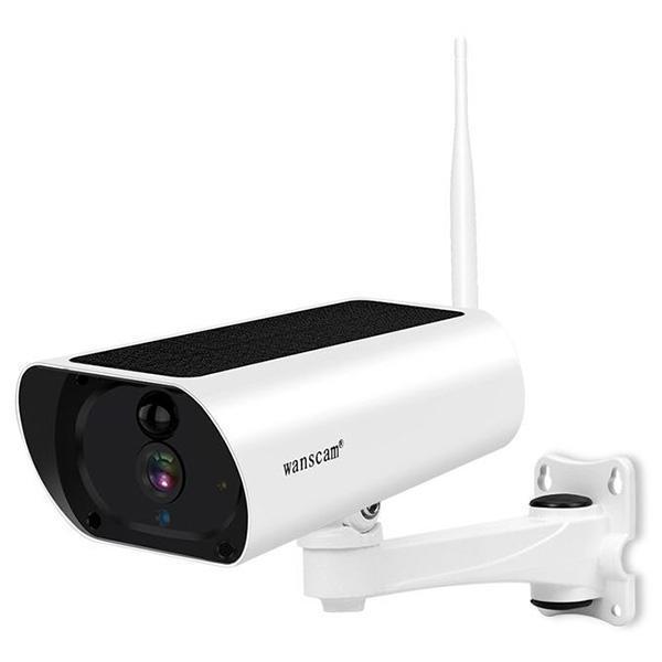 WANSCAM K55A Su geçirmez Tasarım / Çift Yönlü Ses / IR / Hareket Algılama / Bulut Depolama / Kapalı 2MP HD Güneş Network Kamera