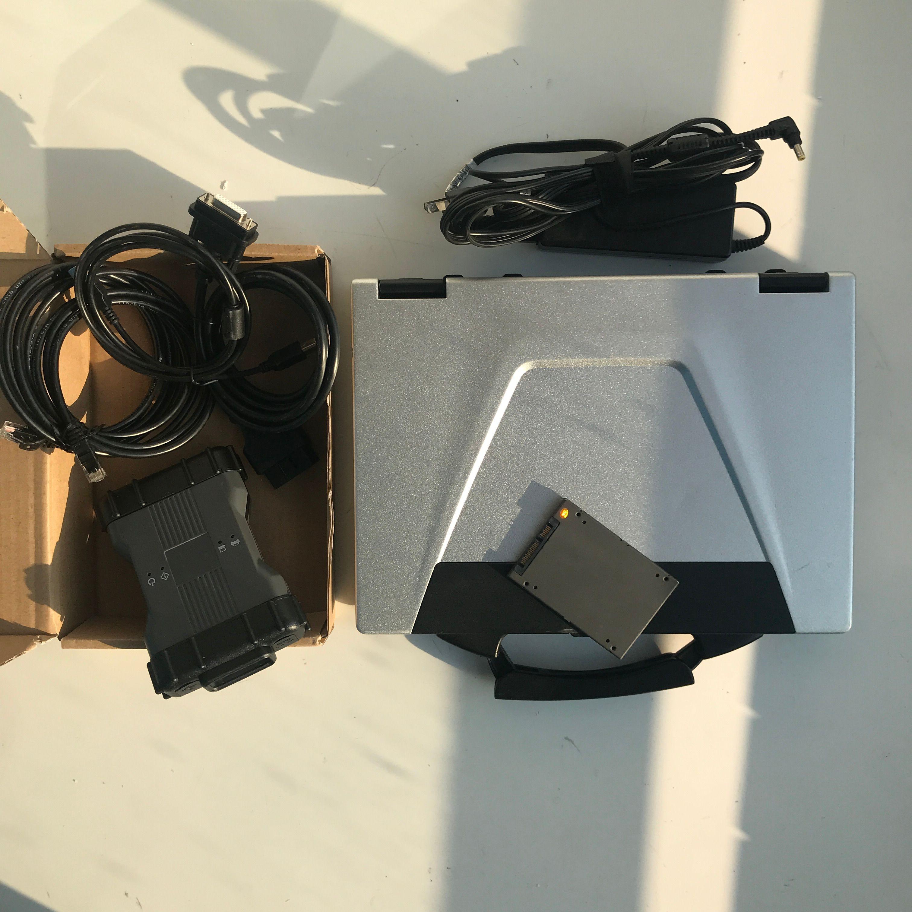 conjunto completo MB Estrela C6 SD C6 Xentry DOIP com laptop usado CF-52 OBD2 Diagnóstico Multiplexer SSD 2019.09V para BNEZ Scanner diagnóstico