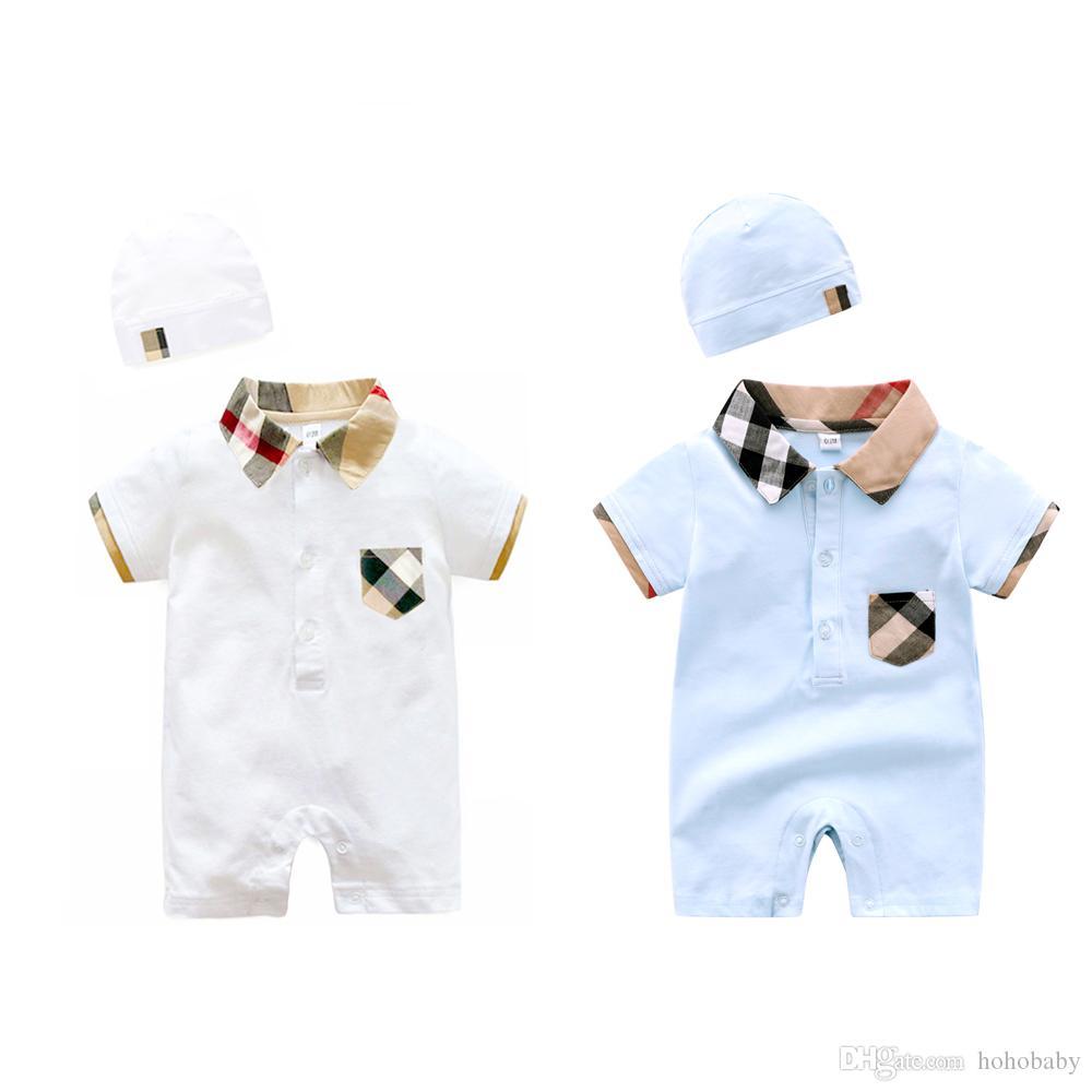 ملابس الطفل 100 ٪ القطن قصير الأكمام الصيف الفتيات الفتيان الطفل السروال القصير طفل رضيع 0-18 أشهر الملابس