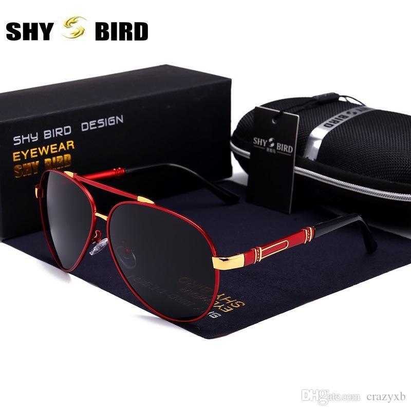 Männer Vintage-Aluminium-polarisierte Sonnenbrille ClassicSun Gläser Beschichtung Objektiv Driving Shades für Männer / Wome