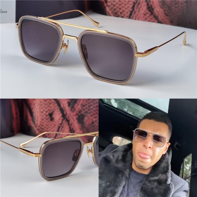 جديد تصميم الأزياء رجل نظارات شمس 006 إطارات مربع خمر النمط الشعبي الأشعة فوق البنفسجية 400 نظارات واقية في الهواء الطلق