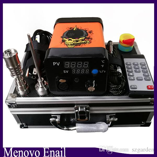 Menovo Elétrica Titainium Dab Pregos Pen Rig Oil Dabbing Dabbing PID Caixa TC Com Domeless Coil Heaer Kit Dnail Silicone Pad 0268110