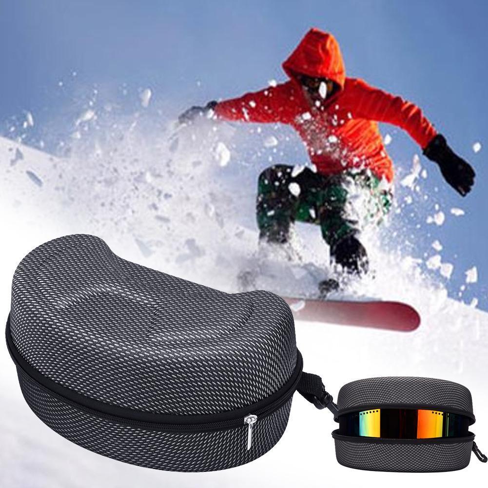 Новая защита Ева катание на лыжах Сноуборд катание на лыжах очки чехол солнцезащитные очки чехол молния держатель жесткий коробка