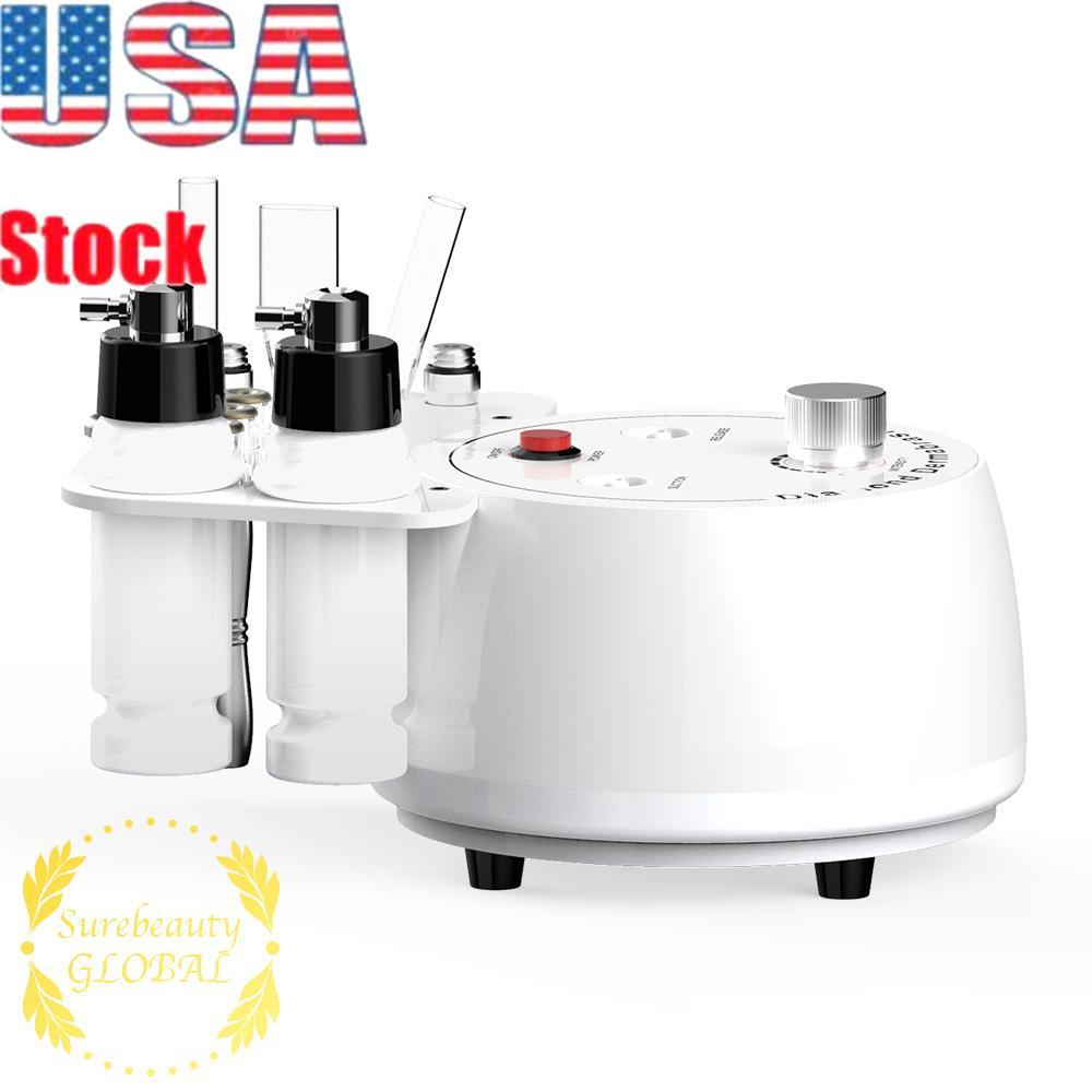 EUA Stock Atacado 3in1 diamante Microdermabrasion Dermabrasion Peeling Acne Skin Removal Cuidados Máquina de Uso Doméstico