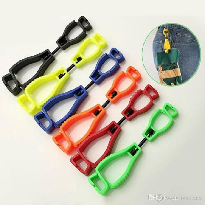 Type A gants clip gants de travail de taille de sécurité en plastique protection Clip Boucle portable du travail pratique créative anti-perte