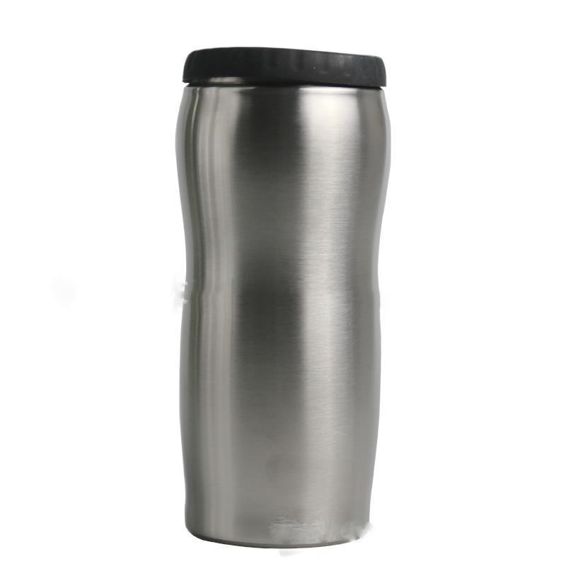 12 onças pode refrigerador de aço inoxidável Tumbler aço inoxidável Can Isolador com isolamento a vácuo garrafa gelada de isolamento pode frete grátis