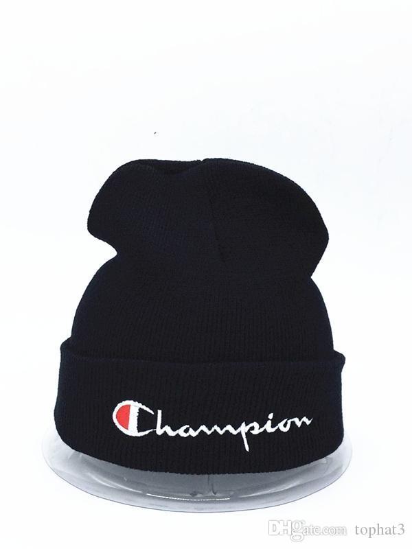 2019 Cappello lavorato a maglia Designer Champion Winter Warm Thick Beanie Fedora gorro Bonnet Skull Cappelli per Uomo donna Berretti da sci