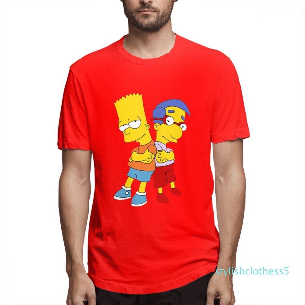 Diseñador de moda de camisas Hip Hop camisas para mujer para hombre de los pares del cortocircuito camisa Los Simpson Impreso Camisetas para hombre Casual Topsc2603s05