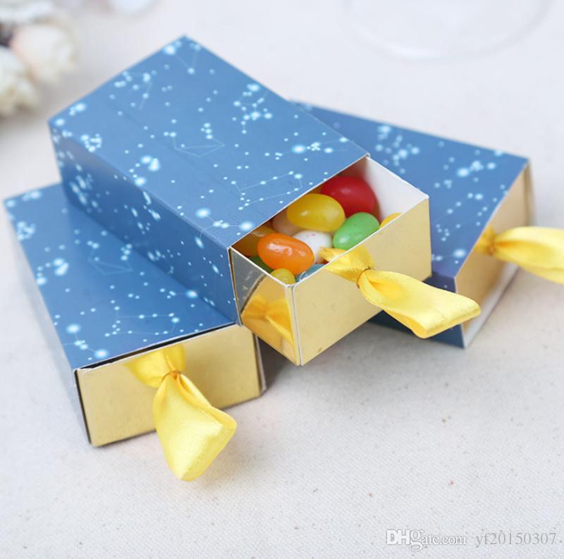 로맨틱 스타 테마 종이 사탕 상자 생일 결혼식 호의 패키지 상자 작은 서랍 상자 선물용 아기 샤워 도매