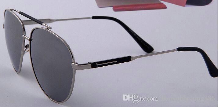 1 adet Marka Tasarımcısı Yeşil lens Tom Güneş Gözlüğü Txrppr Klasik Pilot Güneş gözlükleri Erkekler Kadınlar için altın çerçeve gözlük UV400 62mm lens gel kutusu 926