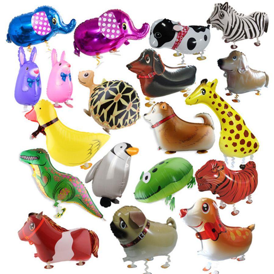 Ходьба домашнее животное животное алюминиевая фольга воздушный шар автоматическое запечатывание дети воздушный шар игрушки подарок на рождество свадьба день рождения праздничные атрибуты RRA2014