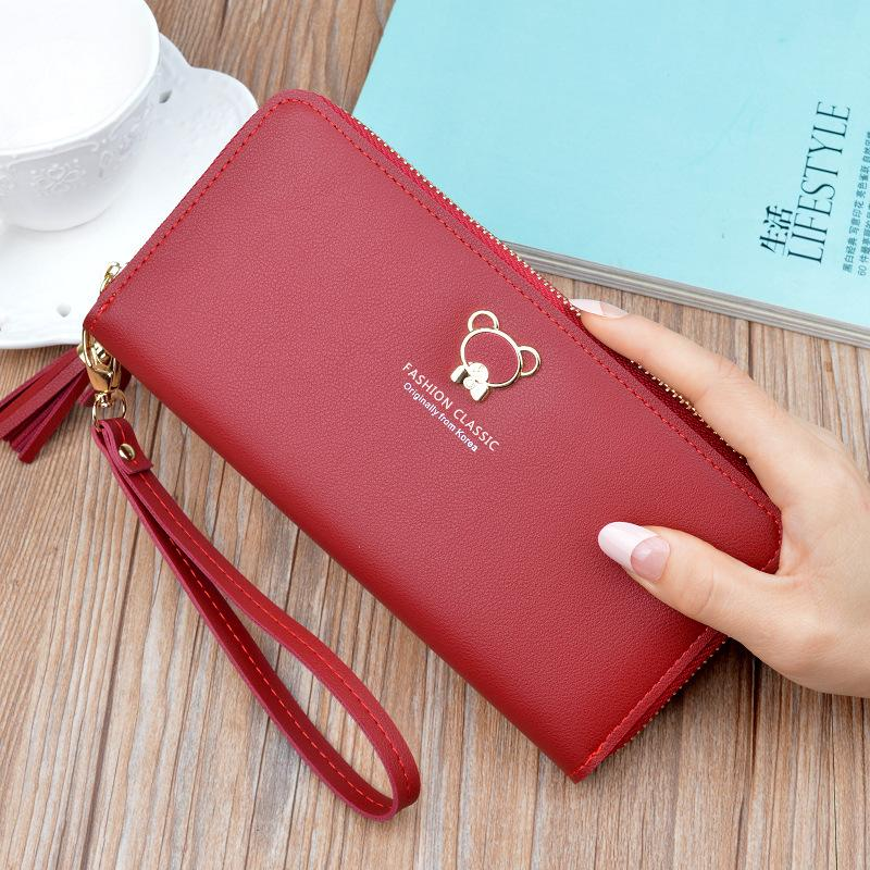 New Womens Wallets And Purses Famous Wallet Female Long Clutch Purse Large Capacity Moneybag geldbeutel damen.
