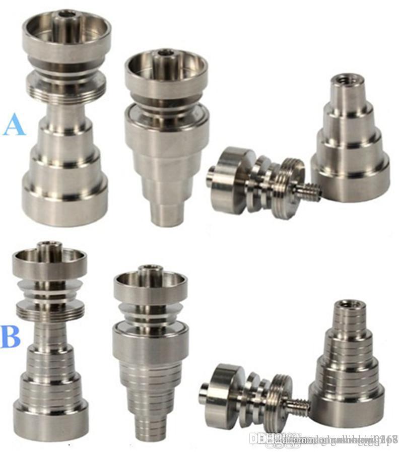 Универсальный Titanium Nail 10mm14mm19mm GR2 Domeless титан ногти Суставы 6 IN 1 domeless титанового гвоздь, водопроводы курительной трубки Стеклянные бонги