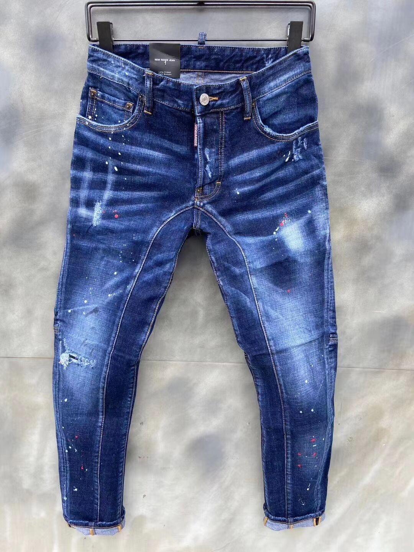 2020 neue Marke von modischen europäischen und der amerikanischen Männern lässige Jeans, hochwertige Wäsche, reine Hand Schleifen, Qualitätsoptimierung LT124