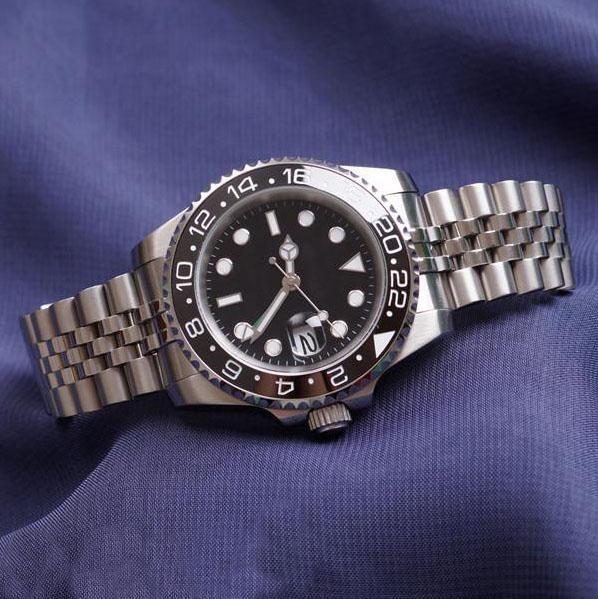 Nuovo orologio da polso da uomo di lusso Modell A3A blu rosso di Pepsi GMT Orologio da polso automatico da uomo di giubileo rosso Relojes Humme Orologio Chrono Data