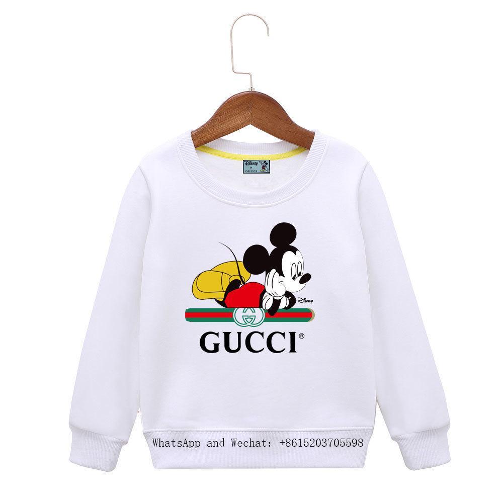 Mädchen koreanische Ausgabe Kinder Pullover Langarm Frühling und Herbst Neues Muster Cartoon Kleine Jungen Hoodie 031618