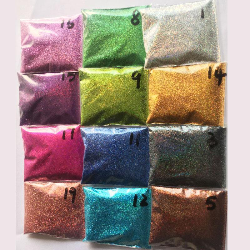 Rikonka 10G Holografik Glitter Toz Parlayan Şeker Gümüş Tırnak Güzel Glitter Toz Nail Art Dekorasyon Manikür 21 Renkler 0.2mm
