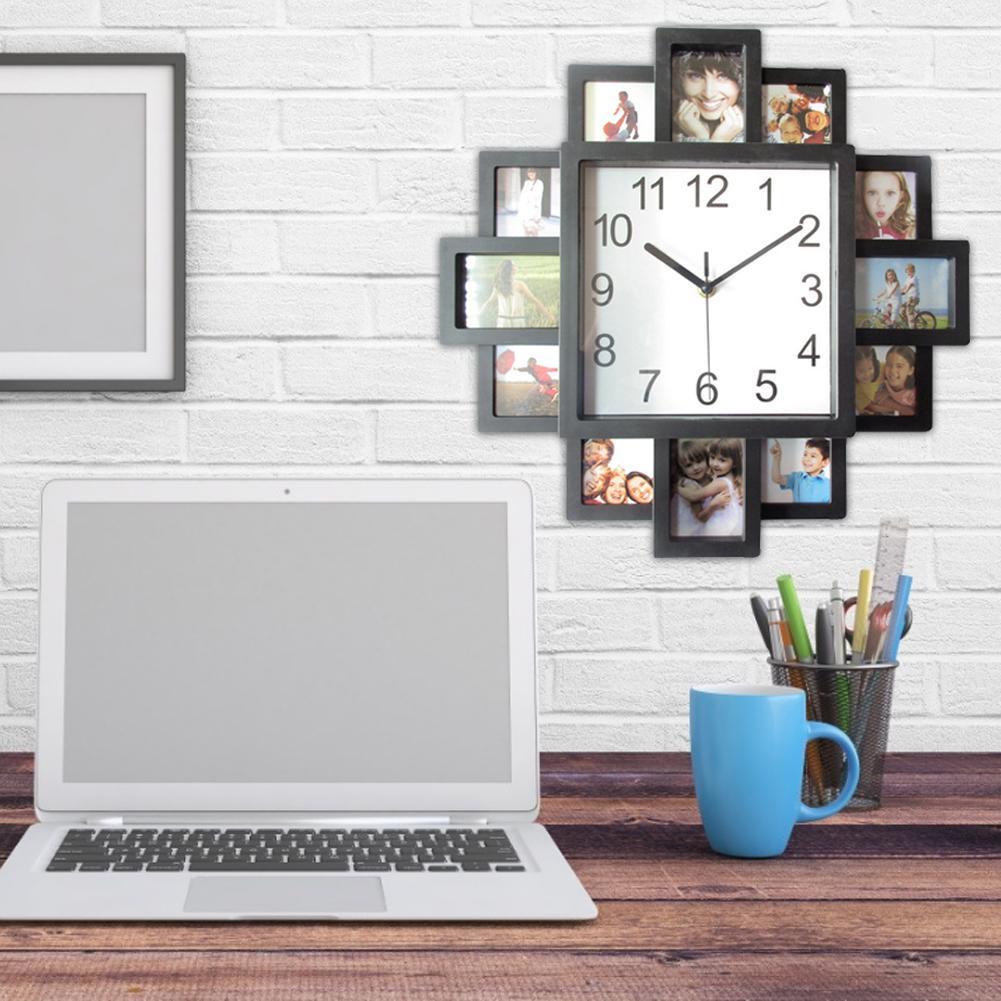 16 дюймов DIY Photo Frame часы настенные часы Стильный Innovative для гостиной спальней и кабинетом Decor