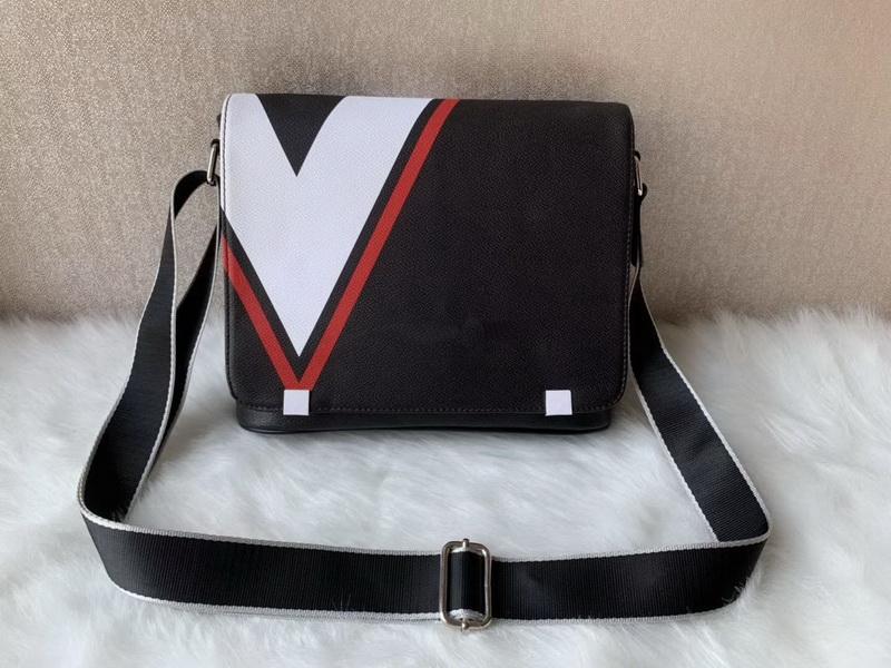 2020 nuove borse designer borse di lusso classiche da uomo nero Haig sella messenger bags nastro trasversale corpo spalla borsa libro di scuola borsa con d
