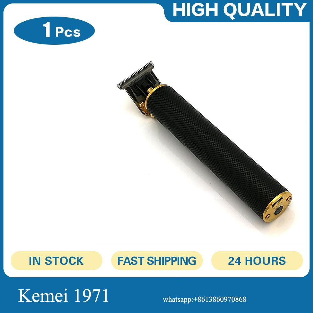 Kemei 1971 Pro Li T-Outliner trimer za Kosu libera Trimmer Homens 0 milímetros careca Hair Clipper Finish cabelo máquina de corte