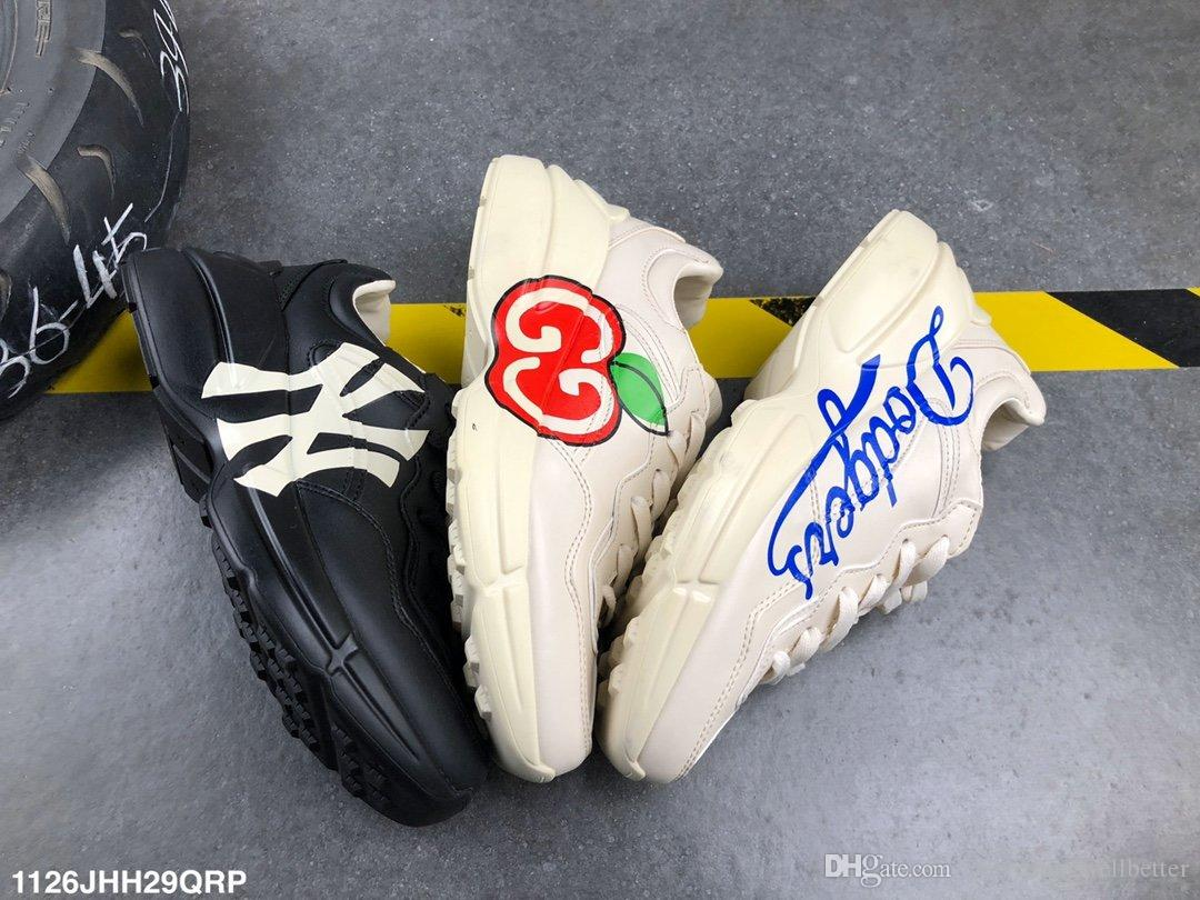 Gucci Daddy shoes scarpe ape serpente bianco tigre ricamati scarpe ACE lusso Genuine Leather Sneaker Mens Women Casual Shoes