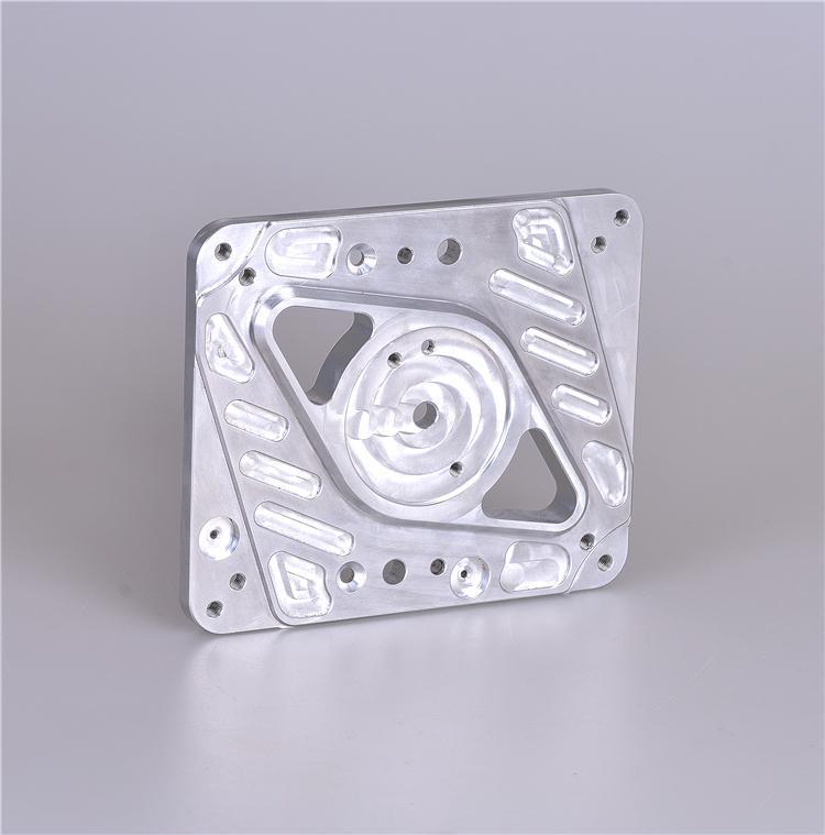 Lavorazione CNC alluminio personalizzato piastra di montaggio fresatura di base CNC per parti di macchine