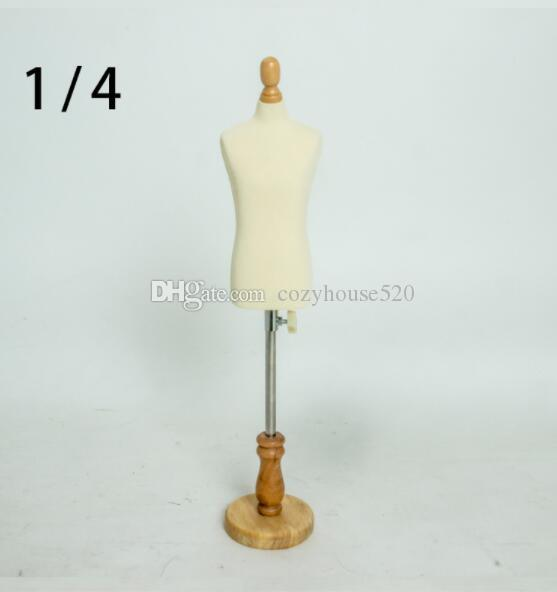 Fashion 1/4 Female dress form Mannequin,jewelry flexible women Student sewing,1:4scale Jersey bust ,adjustable rack Mini Size,C810