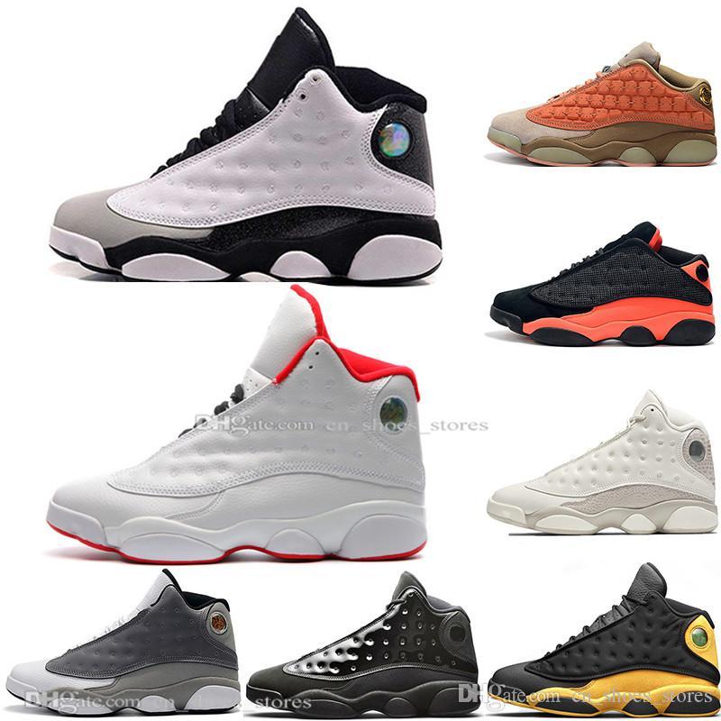 Hot New 13 13s Cap et robe Terracotta Blush Hommes de basket-ball chaussures Chicago noir infrarouge Flints Bred Men Sports Sneakers Designer EUR 36-47