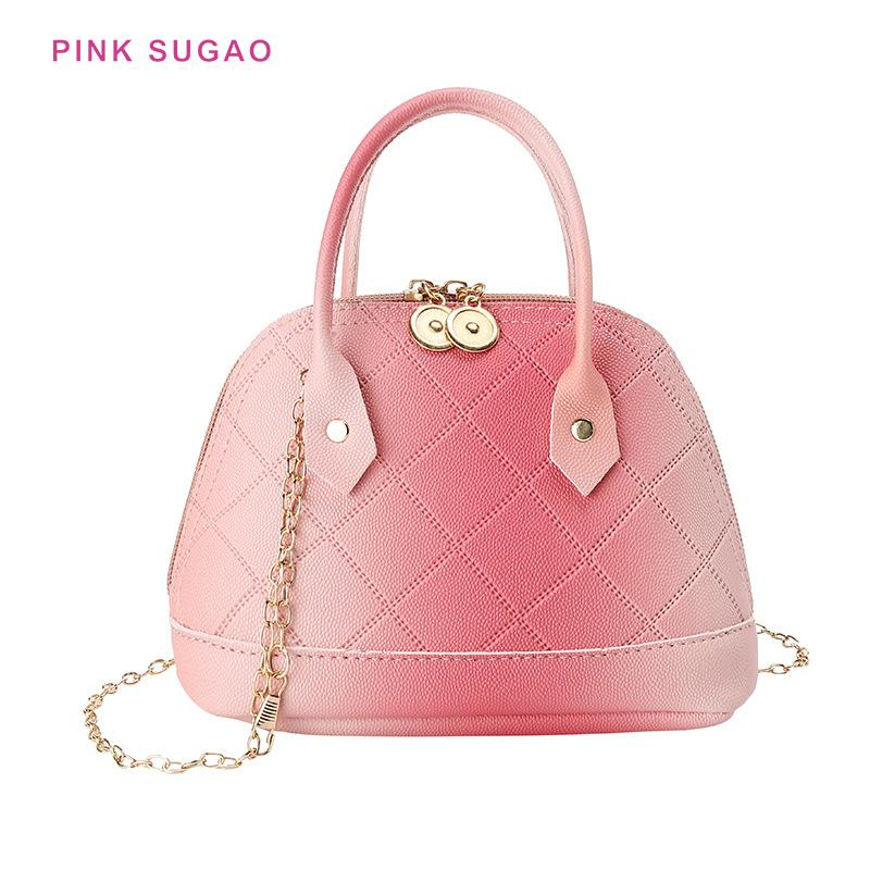 Pink Sugao women shell bags shoulder bag small tote bags for women chain bag purses and handbags crossbody for