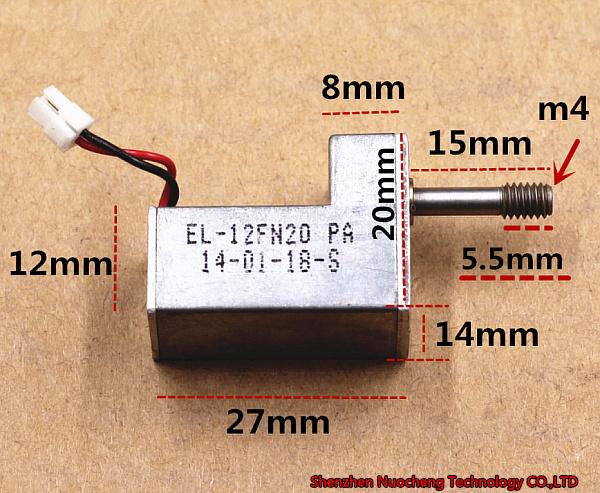 DC5V 1760RPM Micro gear motor with screw rod ~