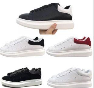 Zapatos casuales negros con cordones Diseñador Comfort Pretty Girl Mujer Zapatillas de deporte Zapatos de cuero casuales Hombres Zapatillas de deporte para mujer Estabilidad extremadamente duradera
